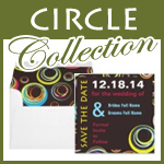circle wedding invitations
