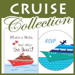 wedding cruise save the date cards