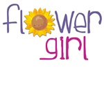 flower girl gifts with a sunflower design